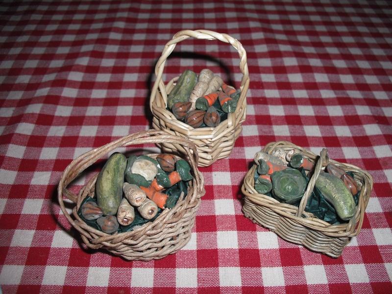 vegetable baskets.