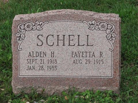 Alden H. & Fayetta R. Schell
