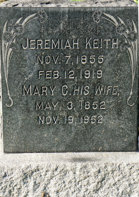 Jeremiah and Mary C. Keith