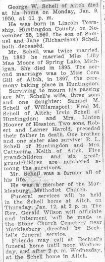 George W. Schell, 1950