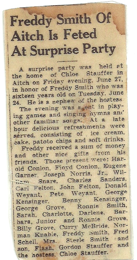 Fred Smith's 16th Birthday Party