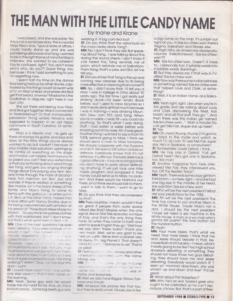 Stereo-Type September 1988 page 1
