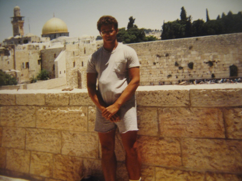 Author in Jerusalem 1991