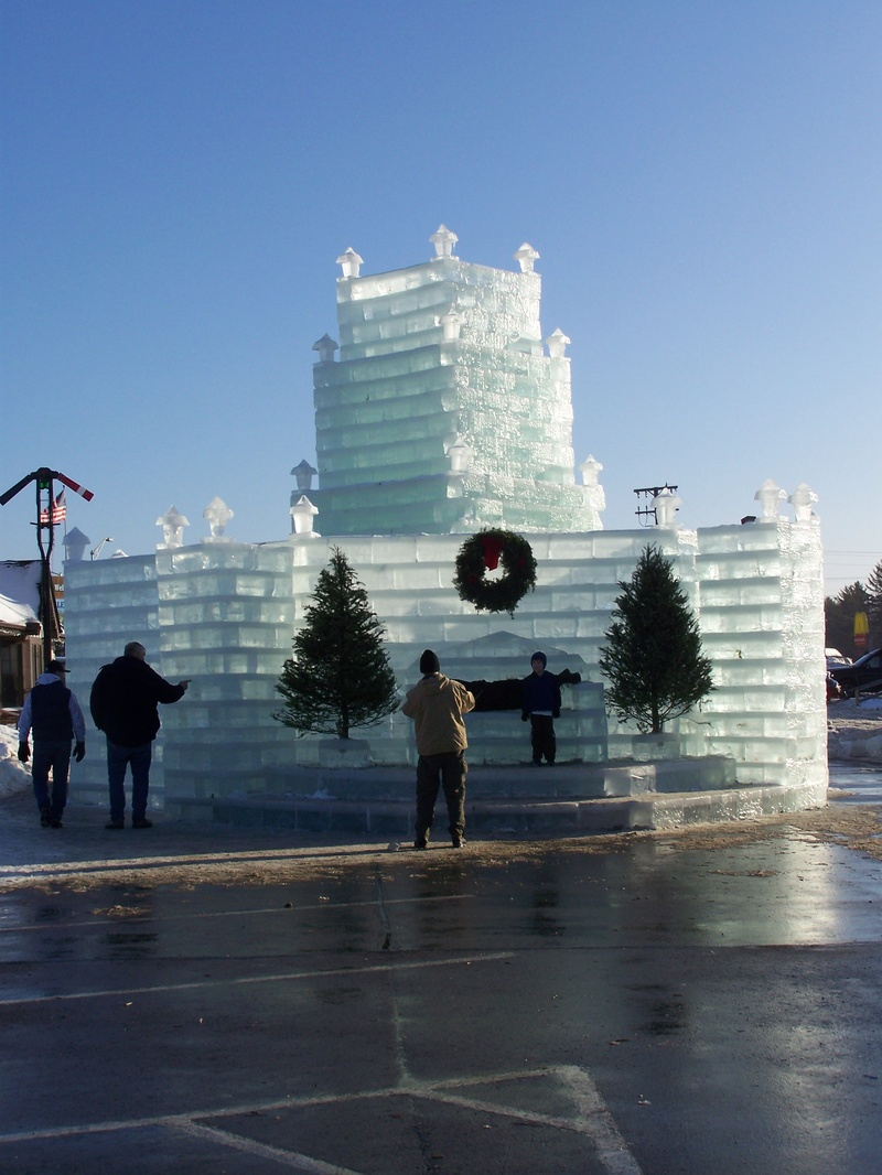 Ice castle in eagle river wisc