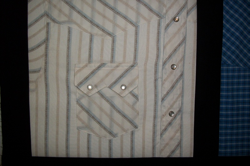 Western Shirt Quilt block