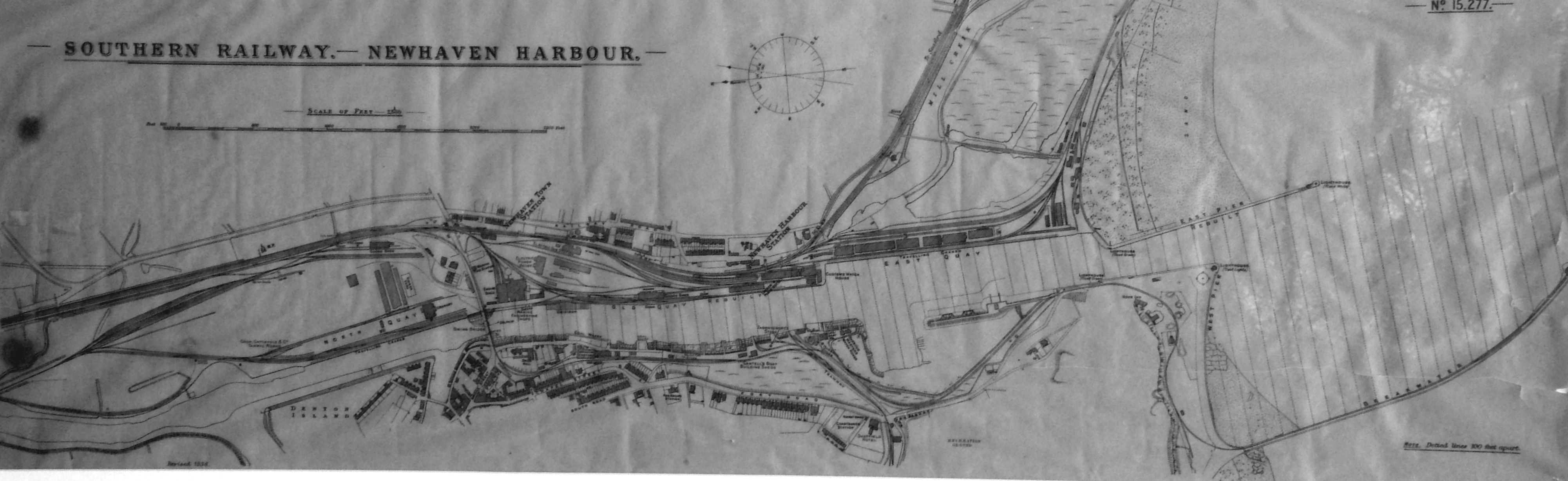 Newhaven Station map 1950