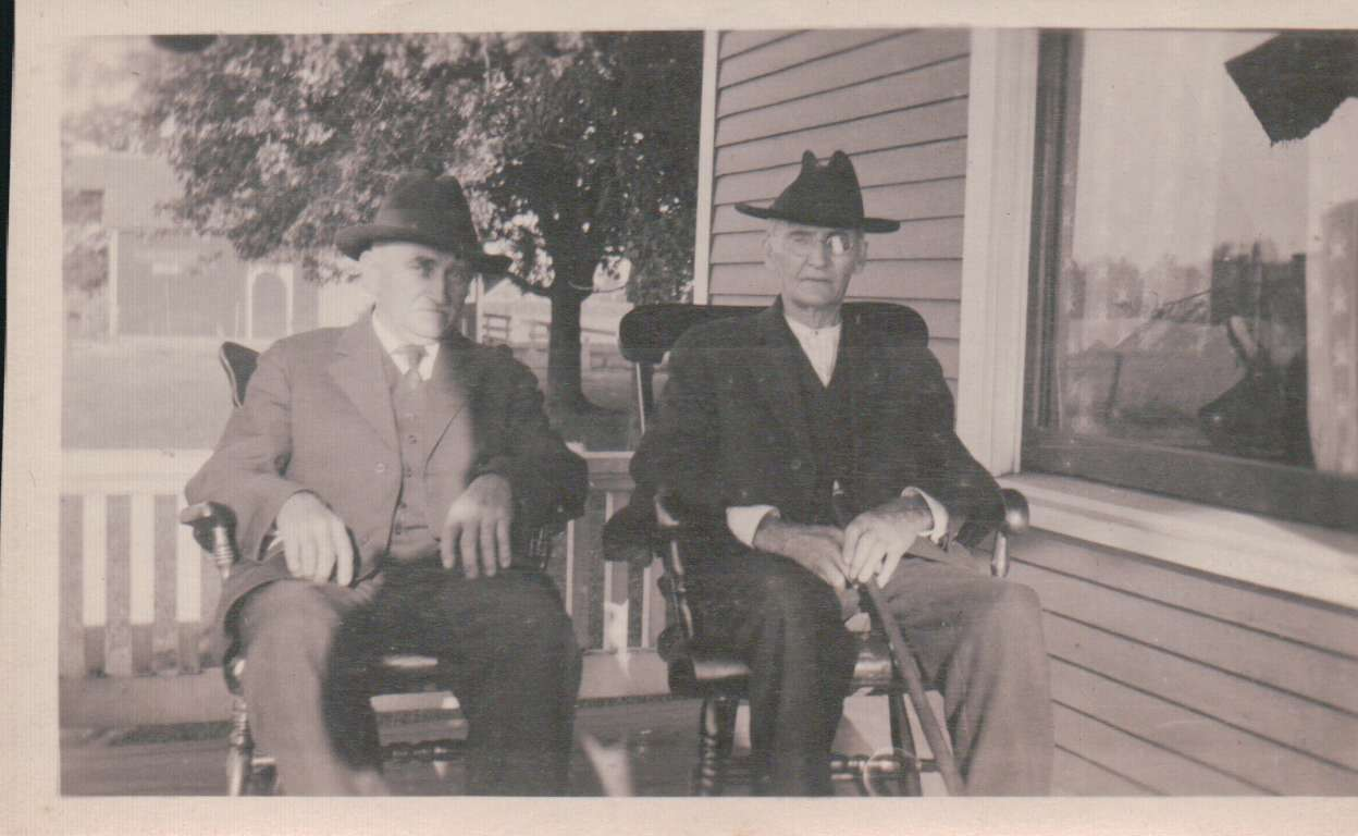 J G W Norris, and unknown man