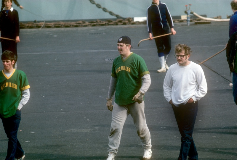 Deck Hockey where?  NATO cruise