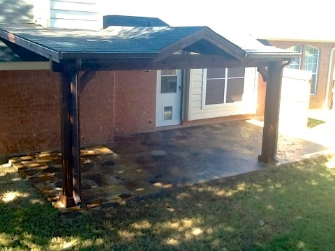 Cedar Center Gabled Patio Cover (Front View)
