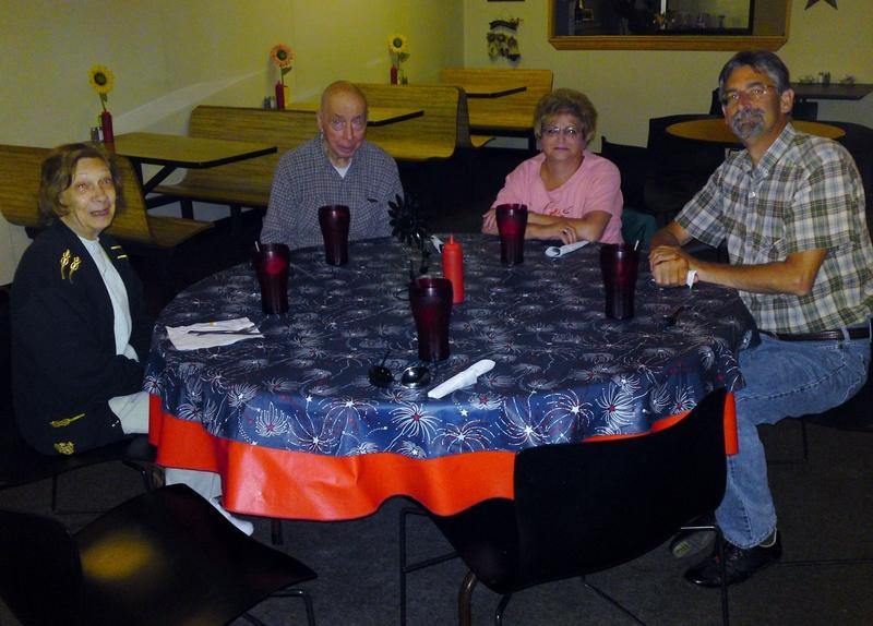 Dinner with John,Eva,Pete & Ron