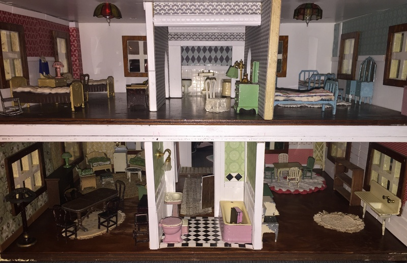 Handmade ~ Wooden Doll House ~ Playing with Tootsie Toys