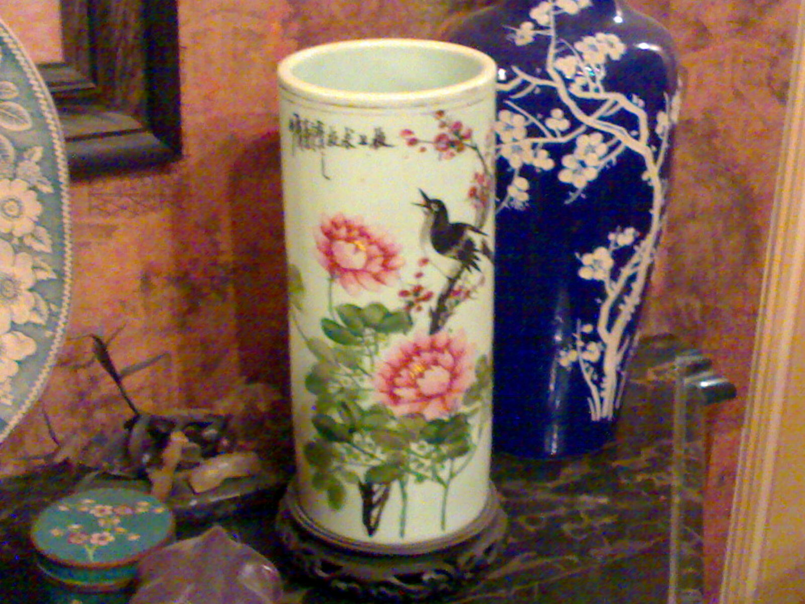 vase cylindrique en porcelaine de chine tao kuang 1821 1851 borsali antiques restoration. Black Bedroom Furniture Sets. Home Design Ideas