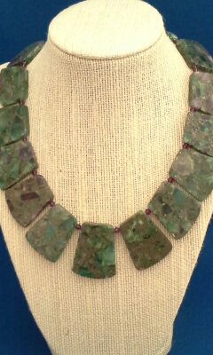 Ruby Zoisite And Crystal Collar Necklace