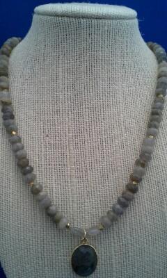 Labradorite/Brass/Vermeil