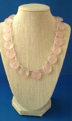Rose Quartz and Sterling Silver Necklace