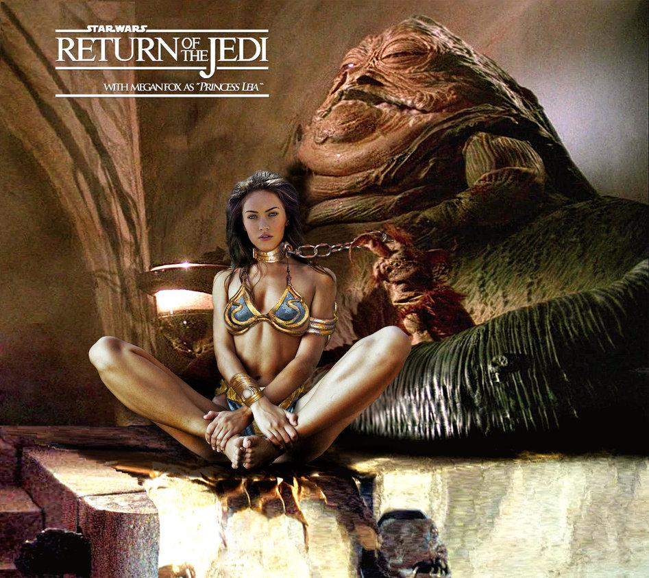 Megan Fox as jabba's slave girl