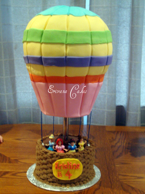 Hot Air Balloon Cake (B046)