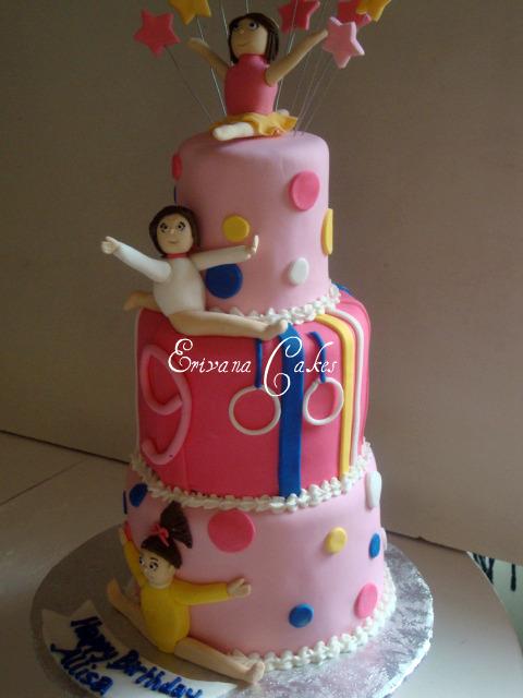 Gymnastic Themed Cake B056