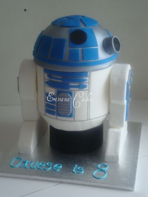 3d R2D2 Star Wars Cake 2(B066)