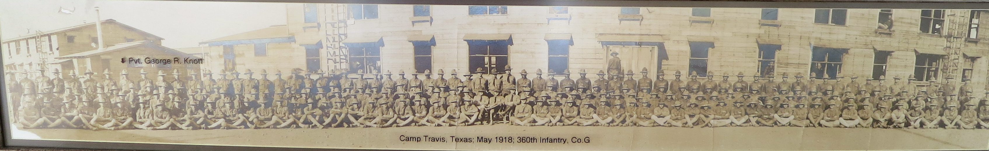 Co. G, May 1918, Camp Travis, Texas