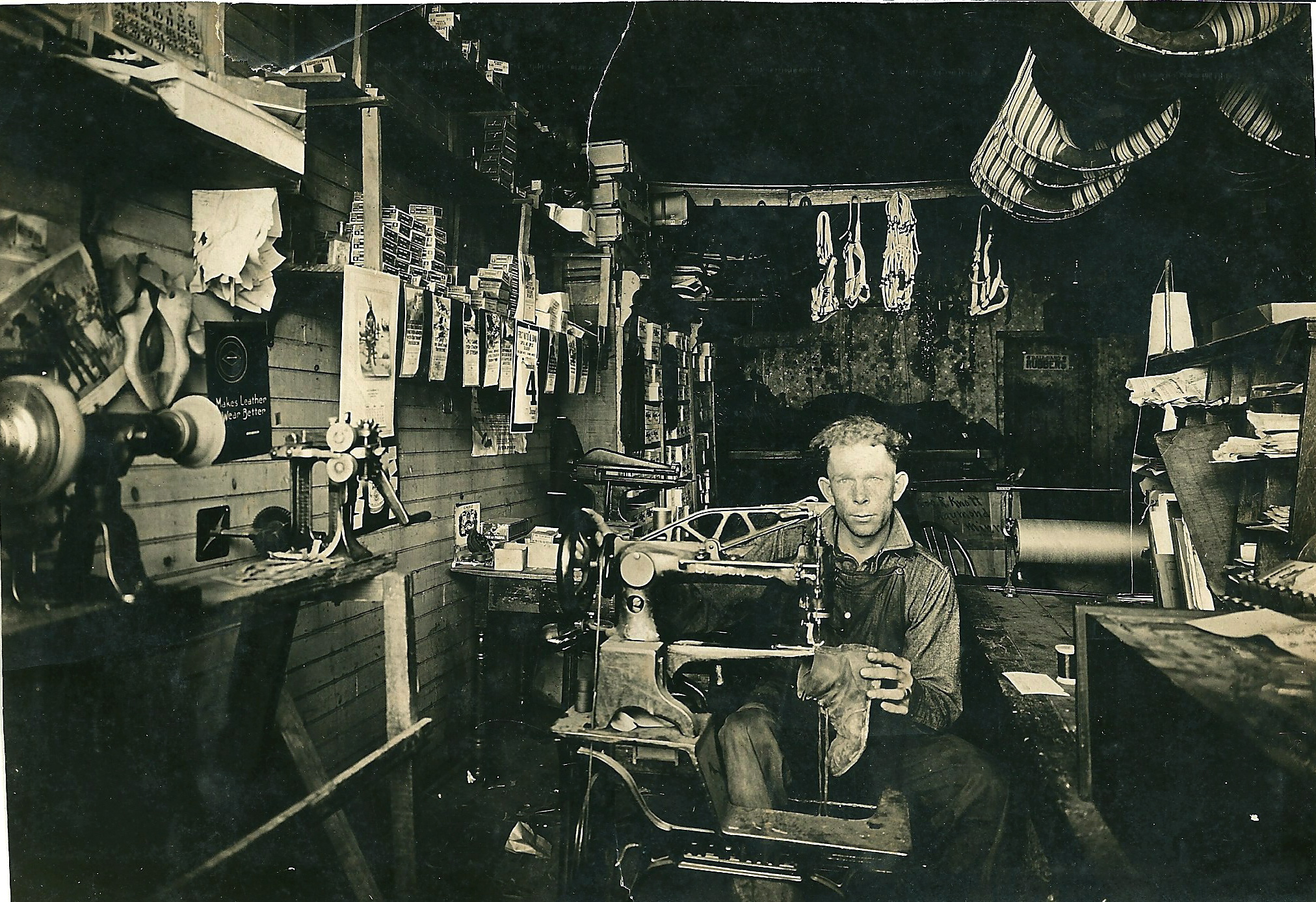 Judge in harness shop early 1920s