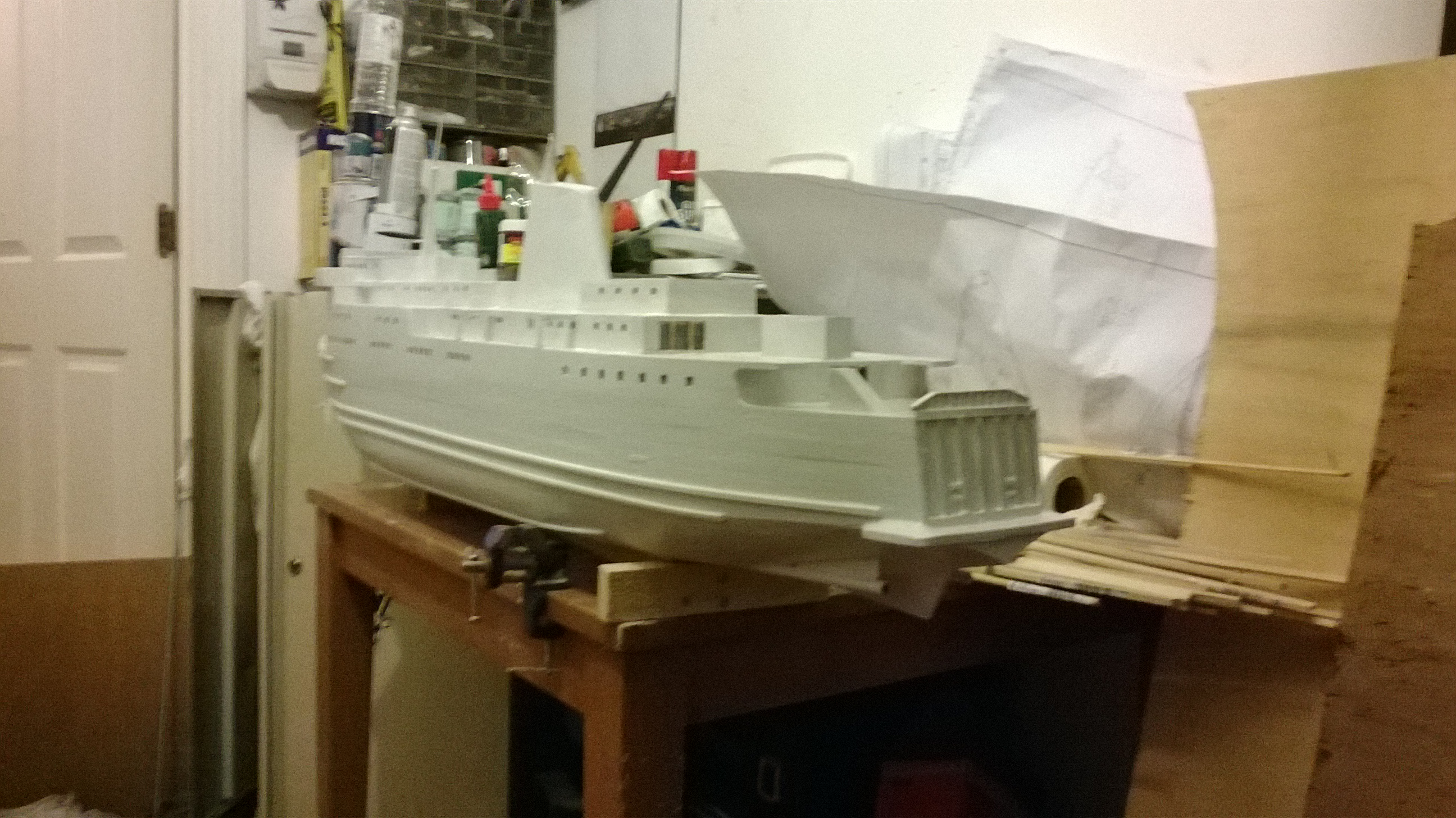 King Orry 5 in primer from stern