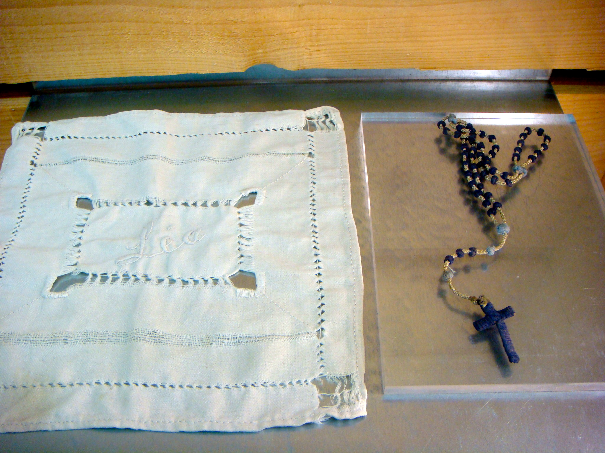 hankie and crucifix