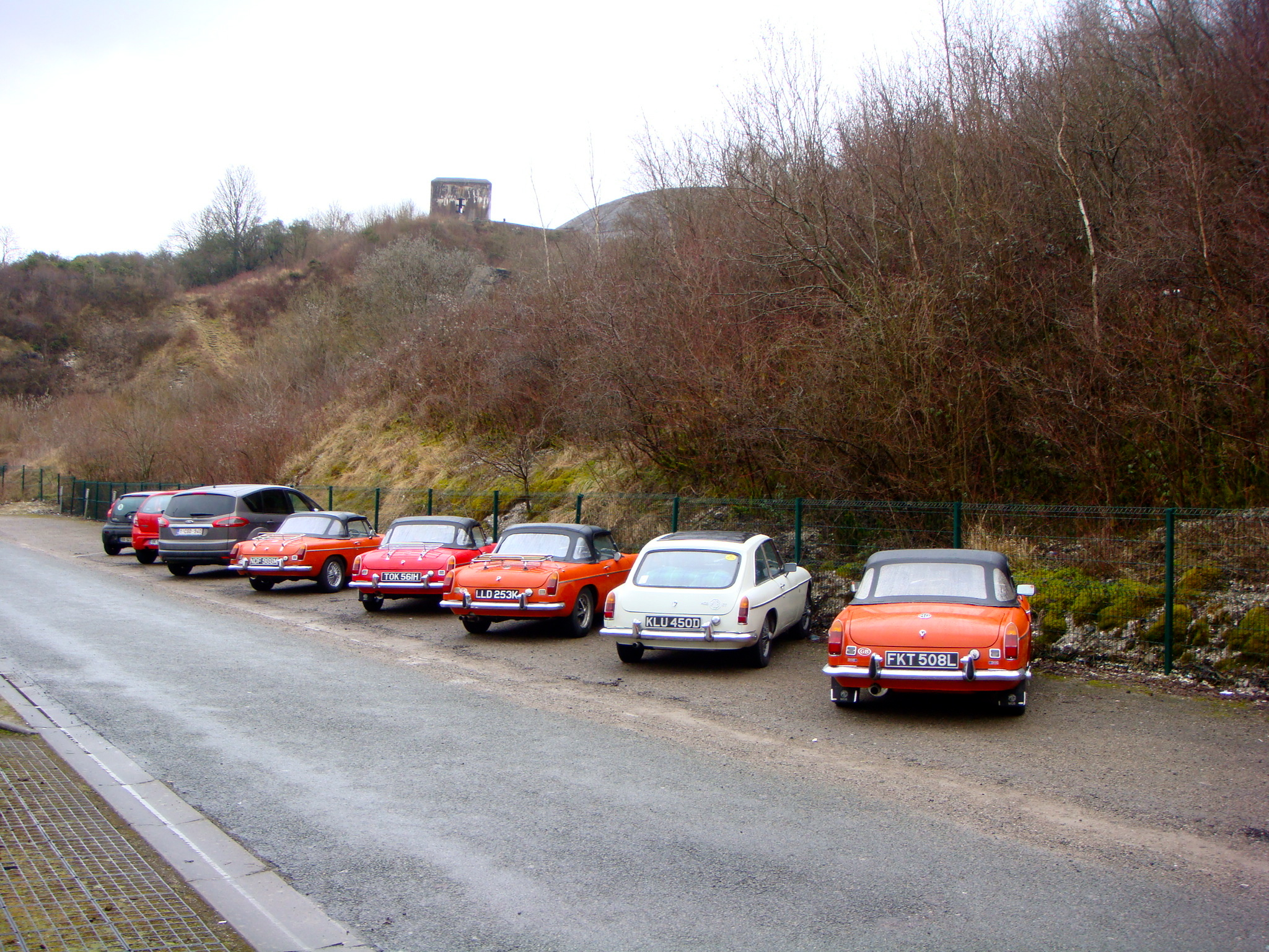 MG's parked up