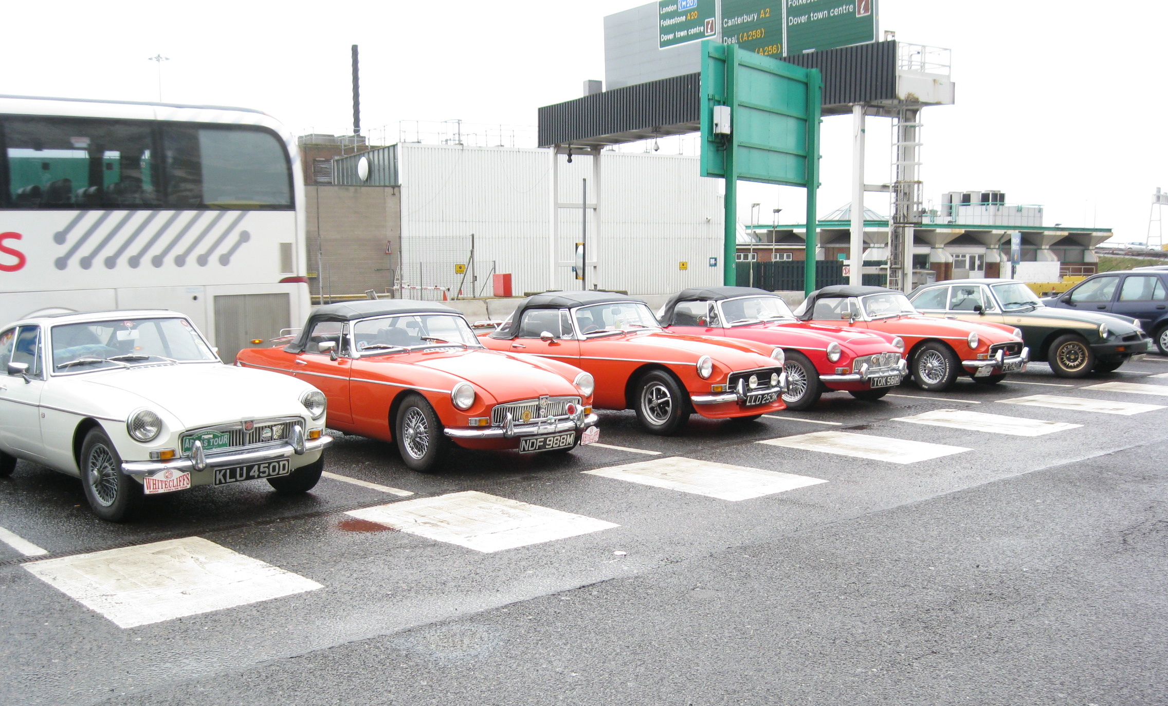 MG's lined up at Dover Docks