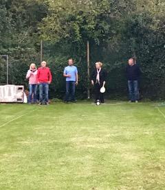 Helen having a go at batting..