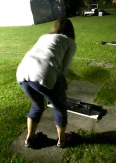 Cathie's turn to bat