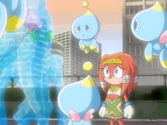 Sonic X Tikal and Chaos