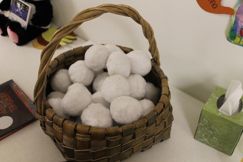 "Indoor ""snowball"" fun"