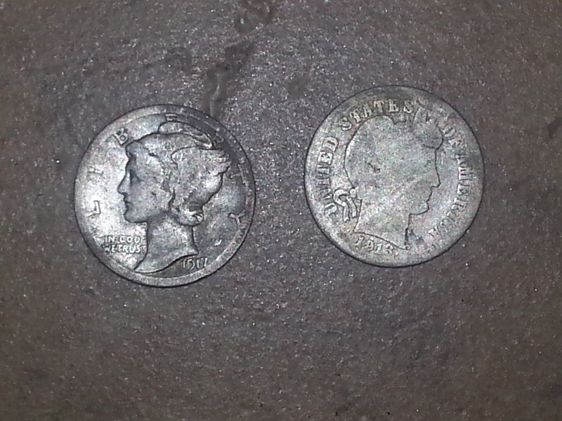 Two old dimes