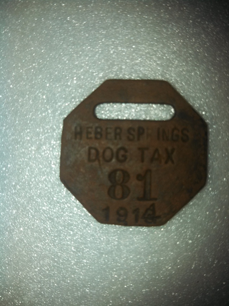 Heber Springs 1913 Dog Tax License