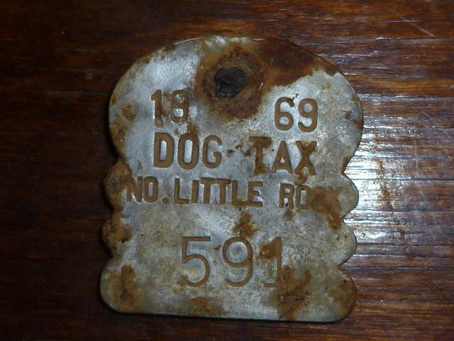 North Little Rock Dog Tax Tag, 1969