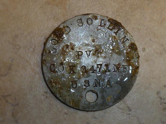 WWI Era Dog tag
