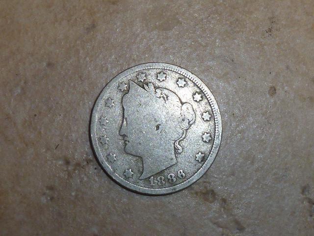 Key date. 1886 V Nickel