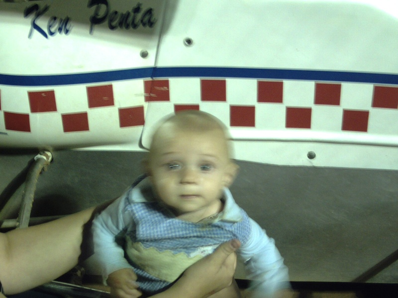 grandson lil stevie on the sprint car