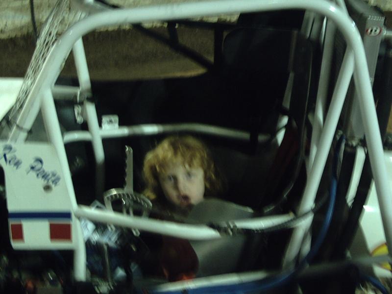 kiyle in the sprint car