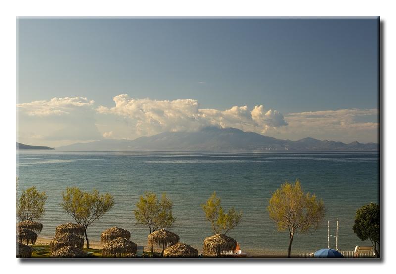 View over Alykanas Beach
