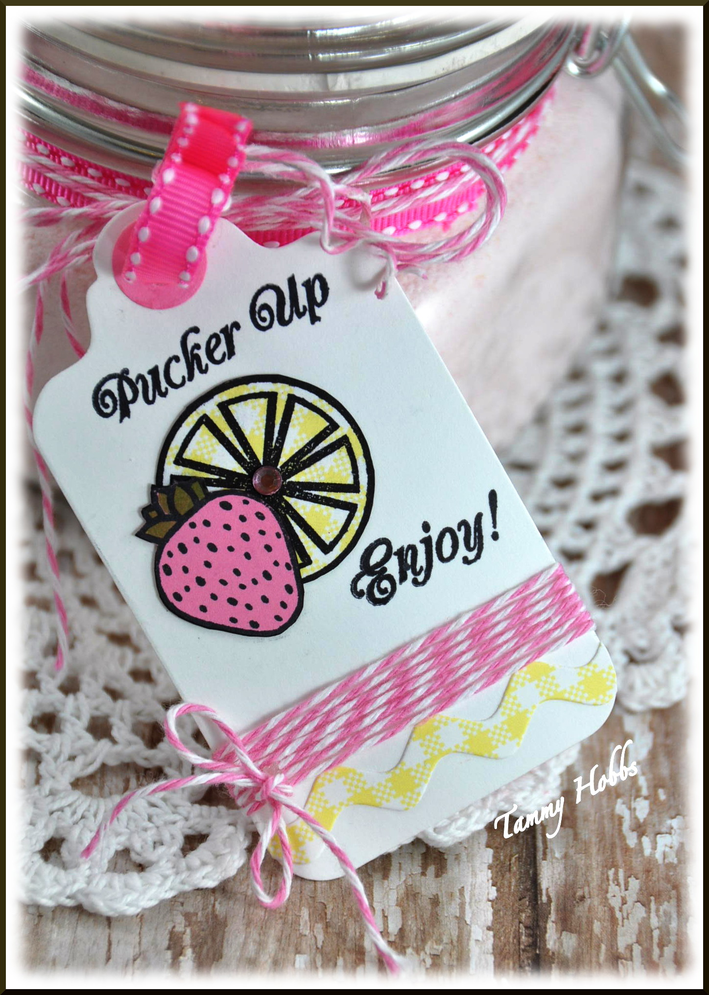 Strawberry Lemonade Gift Tag