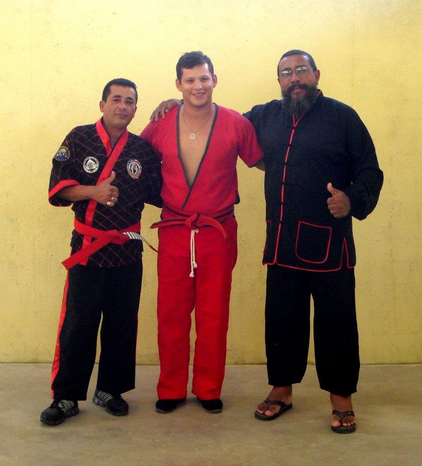 Hanshi Odmar Braga PHD.DR & Grand Master Jose Wellington Pessoa de Morais 10th Dan Kickboxing  and  Grand Master Lao Sho Wong Lo.