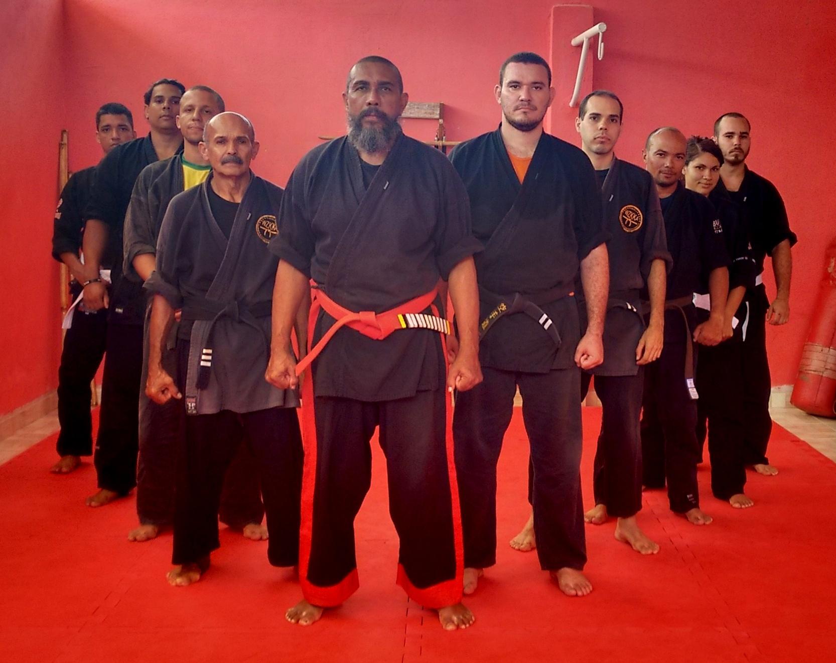 Grand Master Odmar Braga PHD  and black Belt students training