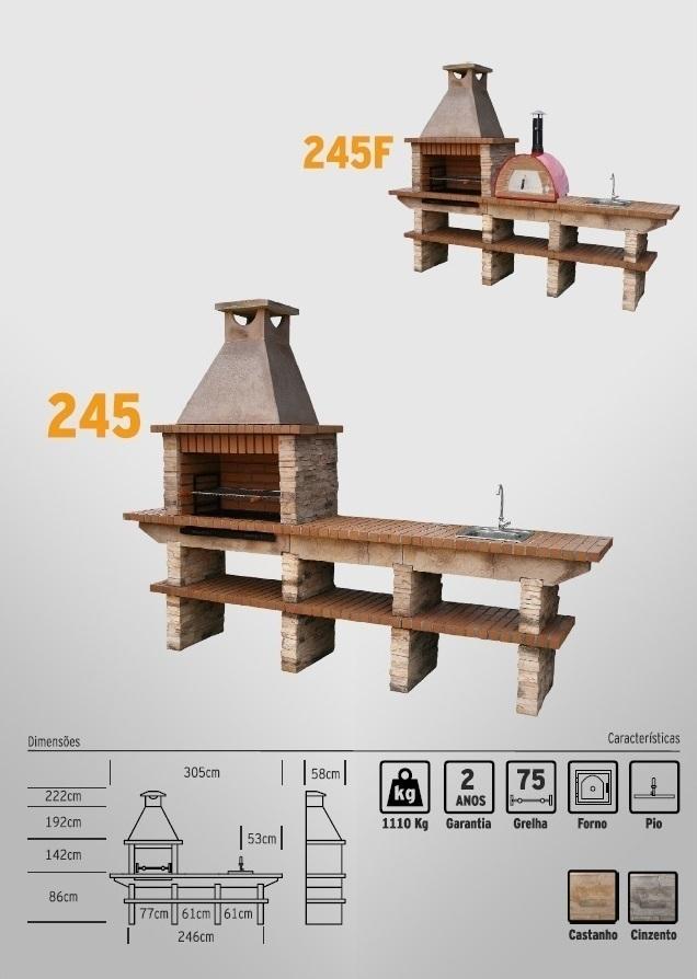 Brick and Stone BBQ station with Washbasin