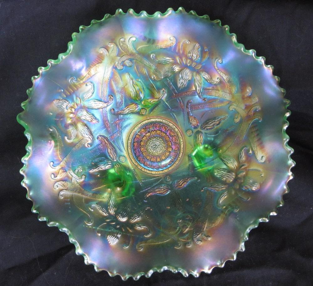 Wishbone  ruffled bowl, ice green
