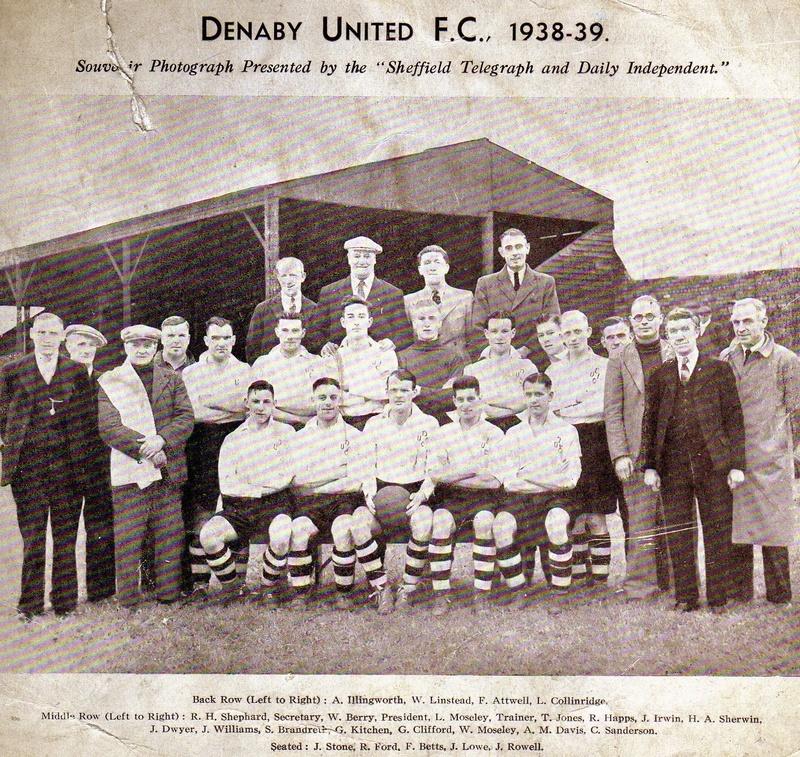 Denaby United F C 1939