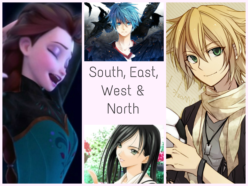 = South, East, West and North =