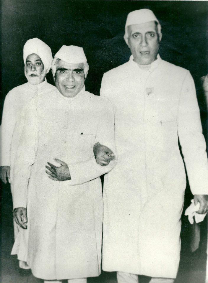BRKR with pandit Nehru