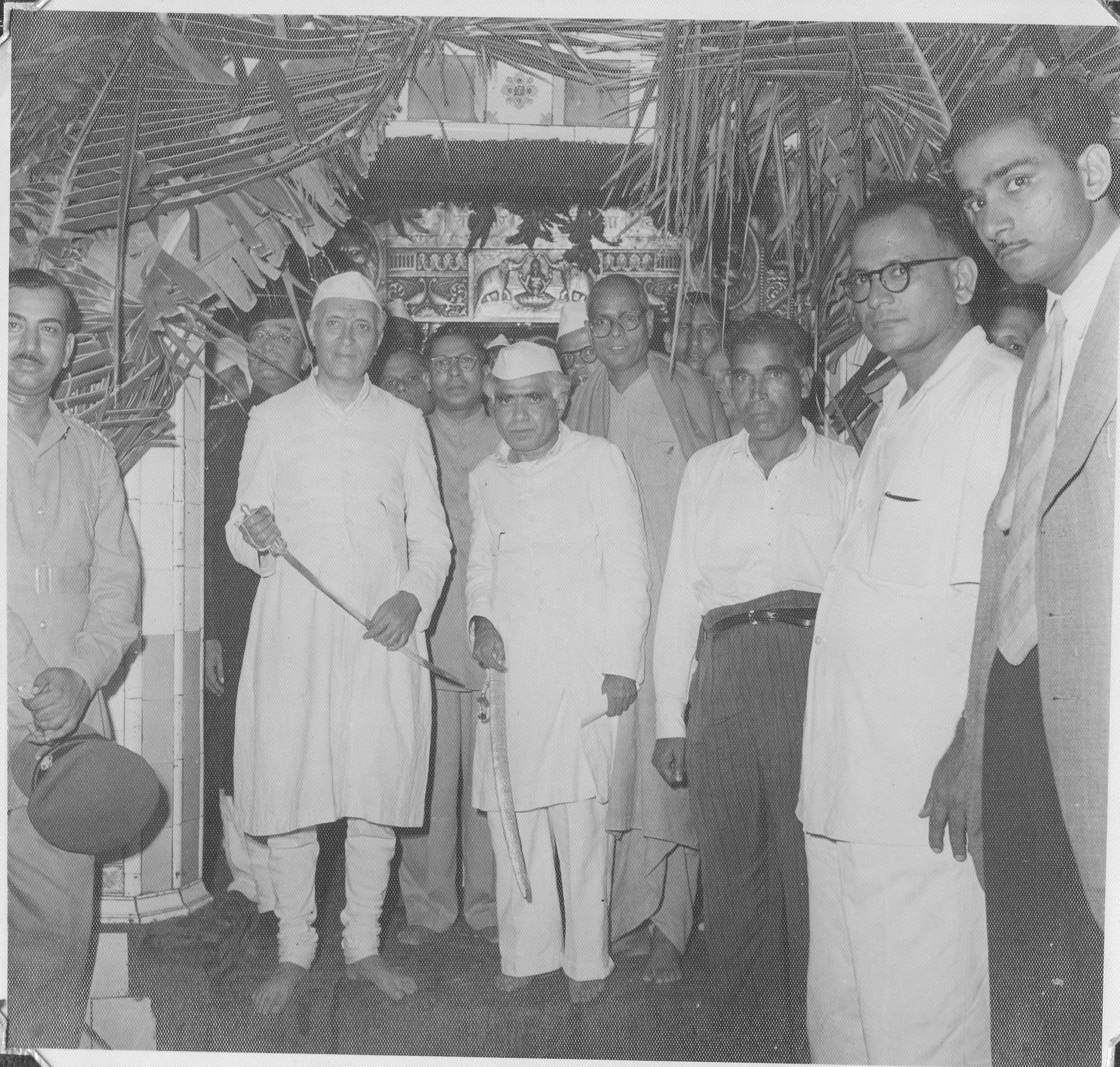 With Pandit Jawaharlal Nehru